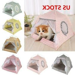 Portable Pet Dog Cat Folding House Tent Puppy Waterproof Ind