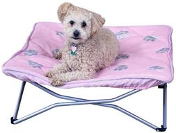 Carlson Pet Products Portable Pup Travel Pet Bed, Pink