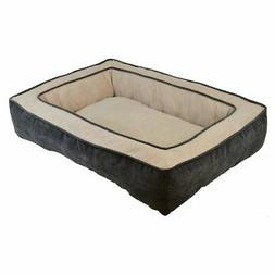 Precision Pet Chevron Chenille Gusset Low Bumper Floor Pillo