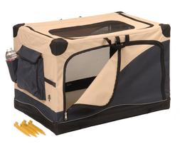 Precision Pet Great Crate Soft Sided Dog Crate in 4 Sizes wi