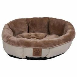 Precision Pet SnooZZy Rustic Elegance Round Shearling Bed Bu