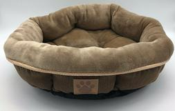 Precision Pet SnooZZy Rustic Elegance Round Shearling Bed Br