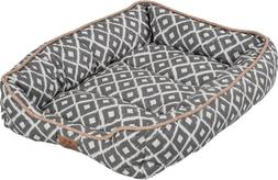 """Precision Pet SNZ Ikat Drawer Bed, Gray, 24 by 18 by 6"""""""