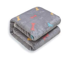 Premium Fluffy Fleece Dog Blanket Soft and Warm Pet Throw fo