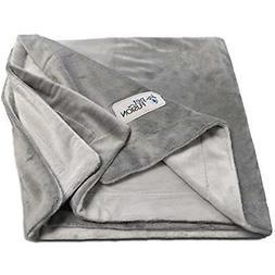 PetFusion Premium Medium Dog Blanket . Reversible Gray Micro