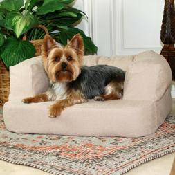Premium Memory Foam Small Orthopedic Dog Pet Bed Sofa w/ Bol