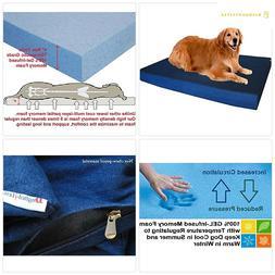 Premium Orthopedic Memory Foam Dog Bed for Small, Medium to