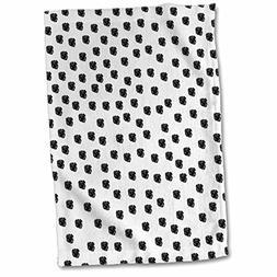 3dRose PS Animals - Dalmation spots dogs animal print black