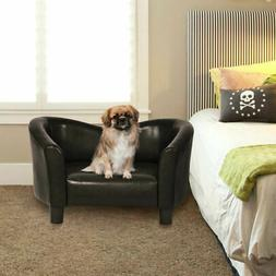 PU Leather Pet Sofa Lounge Durable Snuggle Dog Puppy Sleepin