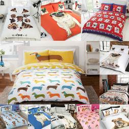 Pug Puppy Dog / Cute Pooch / Bulldog Duvet Quilt Cover Beddi