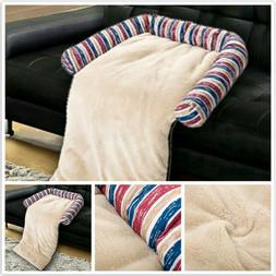 Puppy Dog Cat Bed Sofa Mats Pad Pets Cover Soft Stripe Print