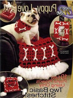 Puppy Love 10 Crochet PATTERN Dog Bone Motifs Pet Bed Collar