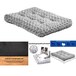 Plush Pet Bed   Ombré Swirl Dog Bed & Cat Bed   Gray 23L x
