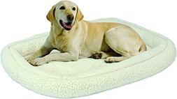 MidWest Quiet Time Deluxe Fleece Double Bolster Pet Bed