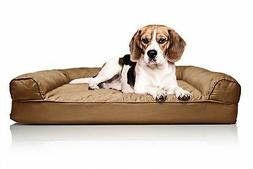 FurHaven Medium Quilted Orthopedic Sofa Pet Bed for Dogs and