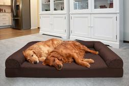 FurHaven Pet Cooling, Orthopedic, Memory Foam Quilted Bolste