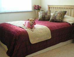 """Quilted 22x72"""" Soft Micro Suede Pets Bed Pad protector runne"""