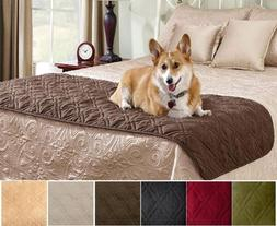 Legacy Decor Quilted Suede Bed Protector Slip Cover for Pets