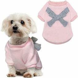 QY Pet Apparel & Accessories Soft Warm Pink Light Gray Dog B