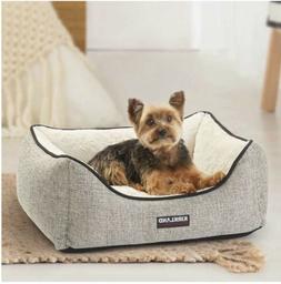 Kirkland Signature Rectangular Cuddler Dog Bed, Pet,  Grey