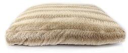 Dream Rectangular Fish Tail Pet Bed with Faux Fur on Top and