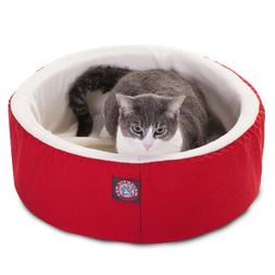 16 inch Red Cat Cuddler Pet Cat Bed By Majestic Pet Products