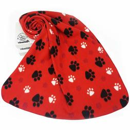Red Dog Throw Blanket for Puppy Bed/Crate/Couch Cute Blanket