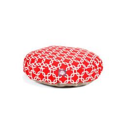 Red Links Small Round Indoor Outdoor Pet Dog Bed With Remova