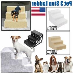 Removable Pet 3 Steps Dog Cat Stairs Climb Ramp Ladder For C