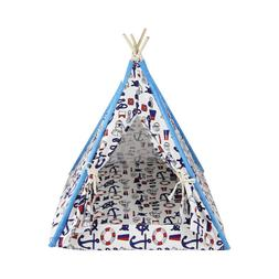 Removable Washable Canopy Teepee Indian Tent Kennel Bed for