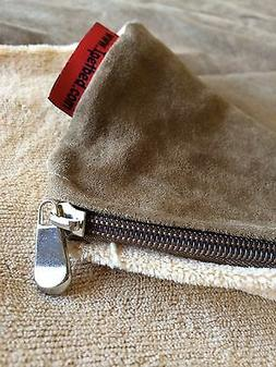 Replacement Dog Bed Duvet Coral Fleece Beige External Zipper