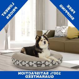 "Round Dog Bed Kirkland Signature 42"" Upholstery Grade Tan Ma"