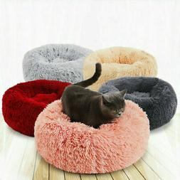 Round Fux Fur Donut Cuddler For Small Cat and Dog Cushion Pe
