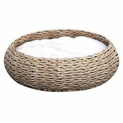 Petpals Hand Made Paper Rope Round Bed for Cat/Dog/Pet Sleep