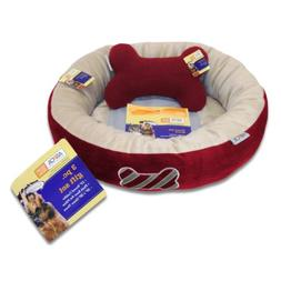 ASPCA Round 3-Piece Pet Bed Gift Set, Red