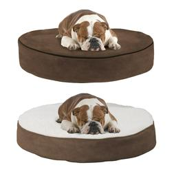 Small Round 20 Inch Pet Dog Bed Memory Foam Pillow Top Rever