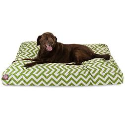 Sage Chevron Extra Large Rectangle Indoor Outdoor Pet Dog Be