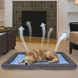 Self-Cooling Gel Pet Mat Floor Dog Bed Crate Cool Dog Cushio