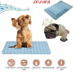 Self-Cooling Gel Pet Mat For Floor Bed Crate Cool Dog Cushio