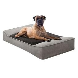 Soft Touch Shadow Pillow Top Stretch Lounger Grey 24x42