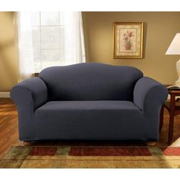 Sure Fit Simple Stretch Subway Loveseat Slipcover Storm Blue