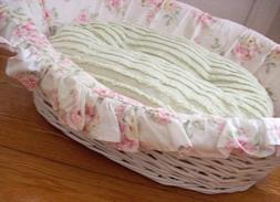 SIMPLY SHABBY CHIC Dog Wicker Bed Rachel Ashwell cat pet pup