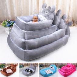 Six Styles Cartoon pet dog bed house flannel kennel cat litt