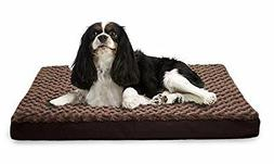 Furhaven Sm Faux Sheepskin / Suede Dlx Orthopedic Pet Bed Ma