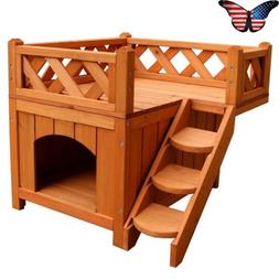 Small Dog Bed Cat Houses Wooden Crate Indoor Luxury Living H