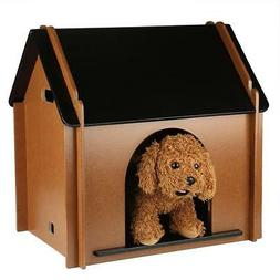 Small Dog House Pet Outdoor Bed Wood Home Kennel Indoor Shel