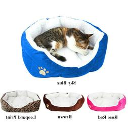 Small Medium Dog Cat Bed House Soft Warm Fleece Cozy Cushion