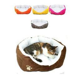 Small Medium Pet Dog Cat Fleece Warm Nest Bed Play House Cot