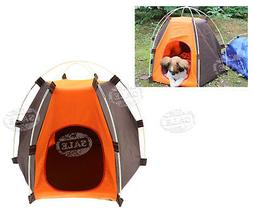 Small Pet Cat Dog Tent Outdoor House Kennel Bed Puppy Portab