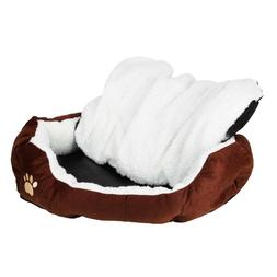 small Pet Dog Cat Bed Cotton Warm Kennel Dog Mat Blanket Sof
